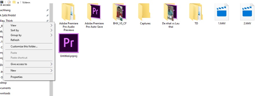 Cách sắp xếp file thư mục folder trên Windows 7