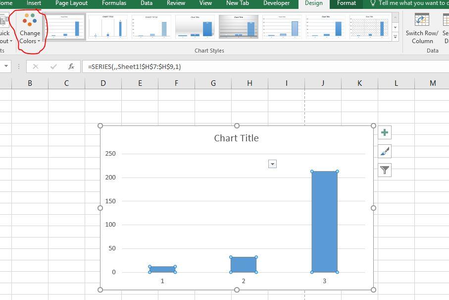 Hướng dẫn cách thay đổi màu sắc cho biểu đồ excel 2016