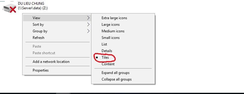 Cách hiện dung lượng ổ đĩa trong My Computer windows 10
