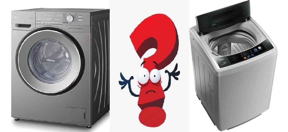 So sánh ưu nhược điểm của máy giặt cửa trên và ngang